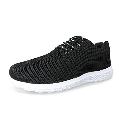 Hawkwell Running Zapatillas Ligero Deportivas Sneaker para Hombre Negro 46EU