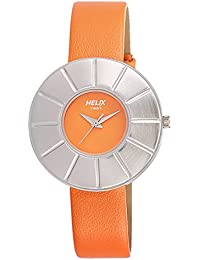 Helix Analog Orange Dial Women's Watch - TI025HL0200