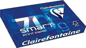 CLAIREFONTAINE Ramette 500 Feuilles Smart 70g A4 210x297 mm Certifié FSC Blanc