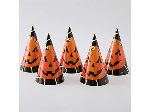 Jxucto dieci pezzi/set cappello di carta zucca cappello a punta di gatto per halloween pasqua accessori costume di natale (4)