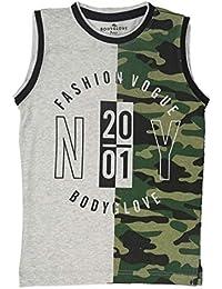 BodyGlove Boy Kids Casual Round Neck Printed Design T-Shirt, Sleeveless, Cotton