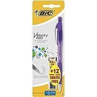 BIC Velocity PRO -  Lápiz mecánico, 12 minas HB y goma de borrar, color surtido