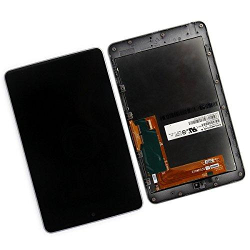 SKILIWAH® Para Asus Google Nexus 7 1st generación (2012) ME370T LCD Pantalla Táctil con Marco+LCD Display Touch Screen Digitizer Assembly with Frame and Slilver Bezel~(WIFI Versión)