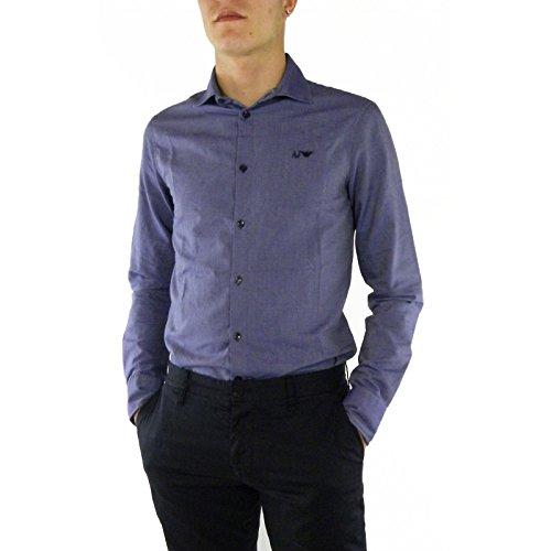 Armani Jeans Herren Freizeit-Hemd Blau blau Blau