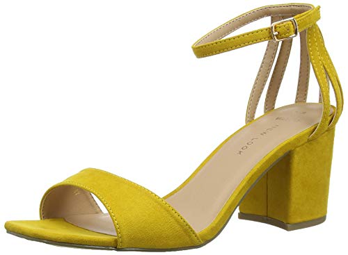 New Look Wide Foot Tequila, Scarpe col Tacco Punta Aperta Donna, Giallo (Dark Yellow 87), 40 EU