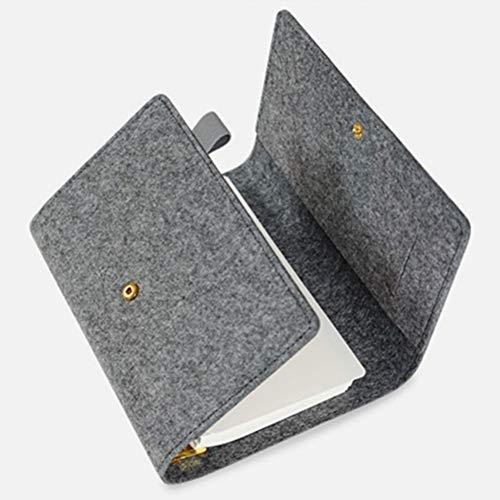 YWHY Notizbuch A5 Nette Katze Goldene Gold Farbe Binder Ring Planer Filz Abdeckung Persönliche Planer Agenda Dairy Organizer Notebook