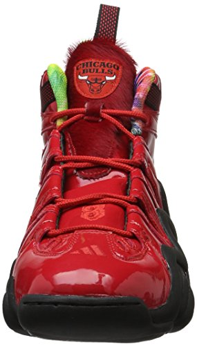 adidas Crazy 8 Chicago Bulls Basketballschuhe, Chaussures de Basketball Homme Rouge (Rot/Schwarz)