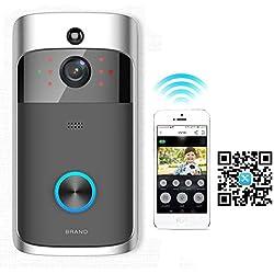 Sonnette Vidéo à la Maison WiFi avec Détection de Mouvement + Vision Nocturne + Audio Bidirectionnelle en Temps Réel