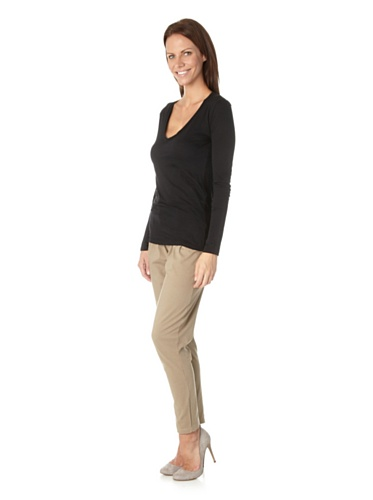 Schiesser Revival Damen Shirt langer Arm Ramona 126627 Schwarz