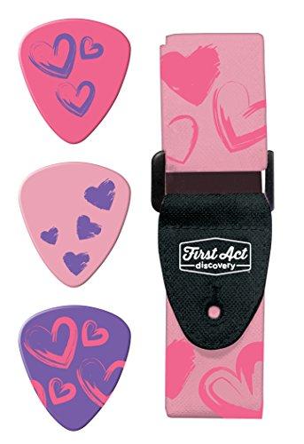 Jazwares-First Act Discovery-Pack Accesorio para Guitarra-corazón, fx20700000