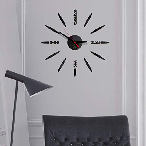 3D Wanduhr DIY Wandaufkleber Uhr Dekoration Ideal für Home Office Hotel Restaurant 3D Wanduhr mit DIY Klebezahlen ABsoar