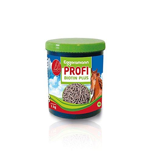 Konzentrat als Zusatzfutter für eine bessere Hornbildung und Haarkleid, Eggersmann Profi Biotin für Pferde, 1-er Pack (1 x 1 kg) - Biotin Ergänzung