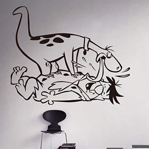 Meaosyy Neue Ankunft Cartoon Flintstones Vinyl Aufkleber Kindergarten Dekoration Kinderzimmer Wandaufkleber Wohnzimmer 58 * 64 ()