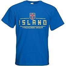 Island Fanshirt T-Shirt Länder-Shirt im modernen Look