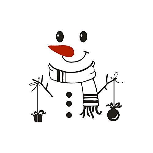 SUN-YUANYI Feliz Navidad pegatina muñeco de Nieve imprimir Feliz deliciosa cocina nevera pegatinas pared calcomanía decorar o hogar