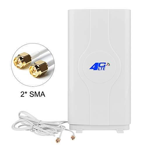 NETVIP 4G Antenne SMA High Gain 4G LTE Antenne Mimo Dual Signal Booster Verstärker Netzwerk für WiFi Router Mobile Breitband Empfang Langstreckenantenne Mit SMA Anschlusskabel für Mobile Hotspot - Breitband-router Netzwerk-router