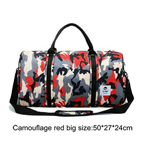 Men Camouflage Sporttasche Lage Capacity Storage Travel Handtasche wasserdichte Oxford Gepäcktasche Red Big Size Champion Oxford Sneaker