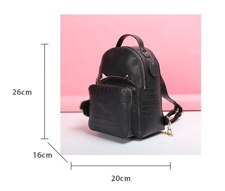 neue krokoleder rucksack fashion mode - freizeit - tasche tasche meng katze hardware - tasche Schwarz