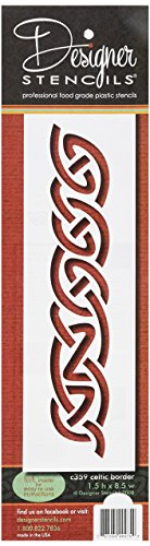 Designer 2Schablonen Keltischer Bordüre Kuchen Schablonen, beige/halbtransparent