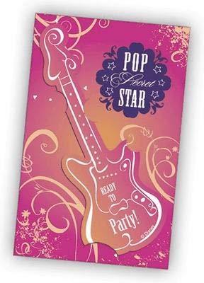 Generique - 6 cartes dinvitation Hannah Montana