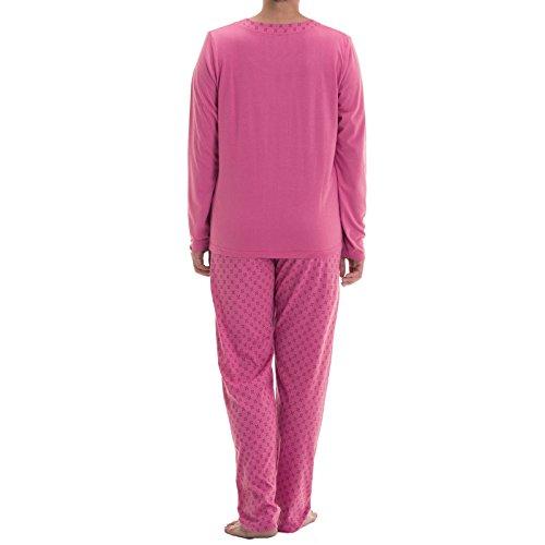 Lucky Brand - Ensemble de pyjama - À Fleurs - Manches Courtes - Femme Rose - Rose