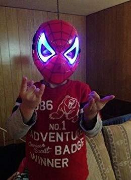 Kostüm Cartoon Kinder - SimpleLife Halloween Kostüme Für Kinder Kinderanimation Cartoon Spiderman LED ACR 23 cm × 17 cm / 9,06 × 6,7