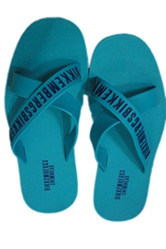 Bikkembergs 2016 croisées Mules homme beachwear Slippers men mer piscine Bleu - bleu ciel