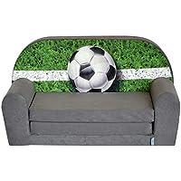 FORTISLINE Kindersofa Mini zum Aufklappen Football W386_03 preisvergleich bei kinderzimmerdekopreise.eu