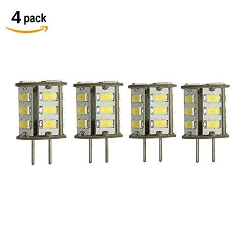 GY6.35 LED 3W als Ersatz für 20W Halogen Lampen ZSZT 12V Kühl Weiß 6000K für Schreibtischlampe, Kristall Scheinwerfer-Birne (4 Packs) (Gy6.35 Base Bi-pin)