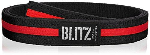 Blitz Farbiger Gürtel/Farbiger Streifen Mehrfarbig schwarz/rot 280 cm -