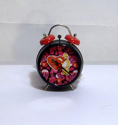 Reloj Despertador de HOMER SIMPSON H 12 cm, 7,5 cm, Diseño de Corazón