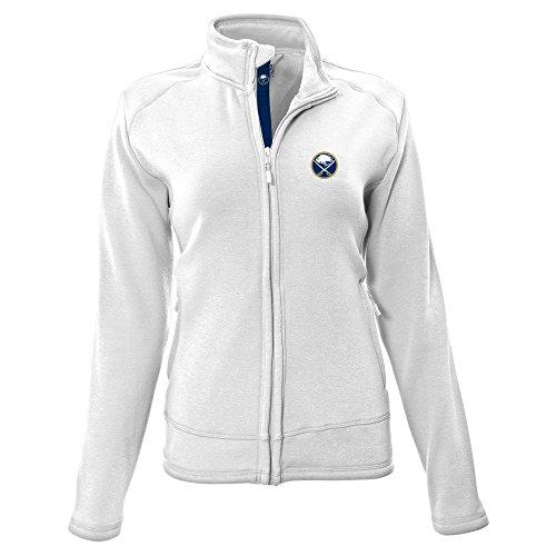 NHL Tranquil Insignia Icon Heather Full Zip Jacket, Damen, Tranquil Insignia Icon Heather Full Zip Jacket, weiß, X-Large (Schwergewichts-jacken-shop)
