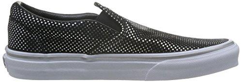 Vans UA Classic Slip-On, Scarpe da Ginnastica Basse Donna Nero (Metallic Dots Silver/black)