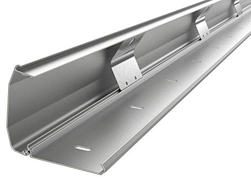 RICOO Kabelkanal Kabelschlauch Z1110-S Kabelhalter Kabelmanagement Kabeldurchführung Kabel Organizer Verstecken Alu Aluminium Klappmechanismus 110cm Silber Grau