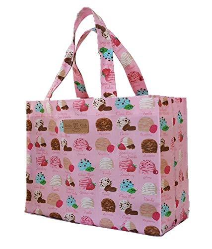 Sturdyfoot s borsa per i libri, borsa porta pranzo, borsa grande, borsa shopping, borsa da palestra, tela cerata borsa - gelato