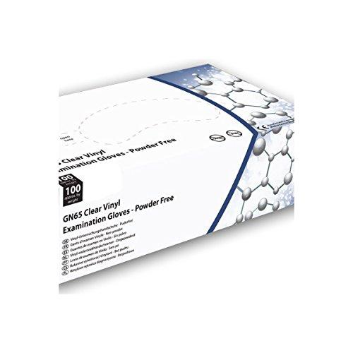Guanti in vinile trasparente HandSafe–Cartone Di 10scatole di 100–AQL–Gn65_ 10