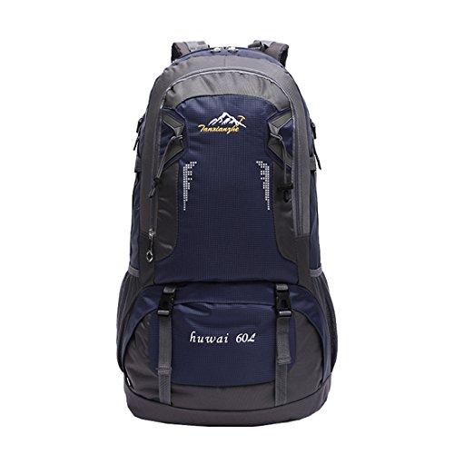 Zaini da Escursionismo Leggeri - Landove Zaino Impermeabile Trekking Grande Militare Tattico Molle Campeggio Outdoor Assalto Borsa Sportiva Alpinismo 60L blu scuro