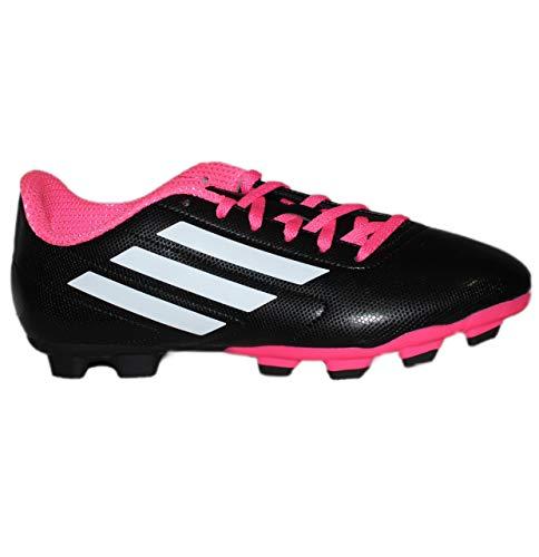 adidas Unisex-Kinder Conquisto FG J B25594 Fußballschuhe, Schwarz (Black), 36 2/3 EU