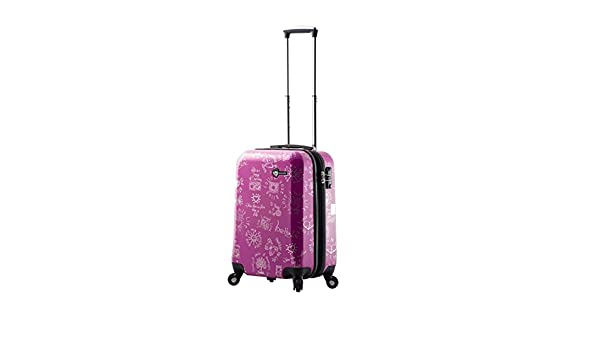 Purple Mia Toro M1089-20in-pur Love This Life-Medallions Hardside Spinner Luggage 20 Carry-on