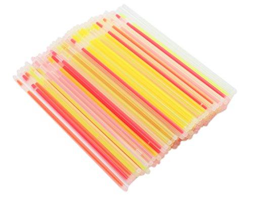 BONAMART ® 100 PCS LED Glow Sticks Arm Knick licht Leuchtstab Nicklichter bunt gemischt mit Verbinder Leuchtarmband (Preis Von Glow-sticks)