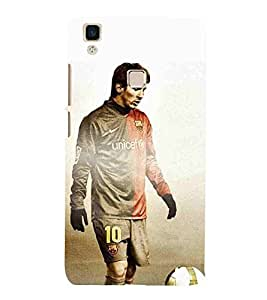 For vivo V3 sports man ( sports man, sports, man, football, brown background ) Printed Designer Back Case Cover By CHAPLOOS