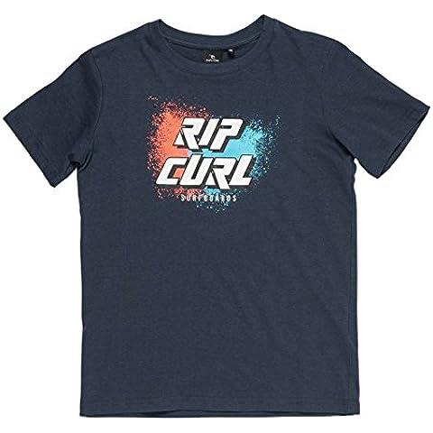 Rip Curl Slant Logo–Camiseta para niño Mood Indigo Azul Mood Indigo Mar Talla:14 años (talla del fabricante: