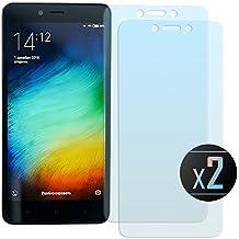 2 x Cristal Templado Protector de Pantalla Para Xiaomi Redmi Note 2 /Prime - NEVEQ® Vidrio Templado, el Xiaomi Redmi Note 2 (Prime) (5.5) Pulgadas de Pantalla con Garantía de por Vida, piel Protectora de la Cubierta de 9H de Dureza.
