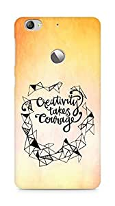 AMEZ creativity takes courage Back Cover For Letv Le 1S