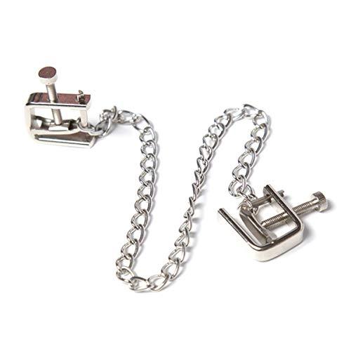 Abrazaderas de pezón de Metal Ajustables no Perforadas para Mujeres joyería del Cuerpo del Pecho Juguete del Juego del Sexo