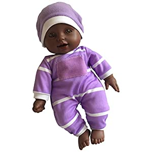 """The New York Doll Collection- Cuerpo Suave Pulgadas en Caja de Regalo-Muñeca bebé de 11""""(afroamericana), Color (43234-1421)"""
