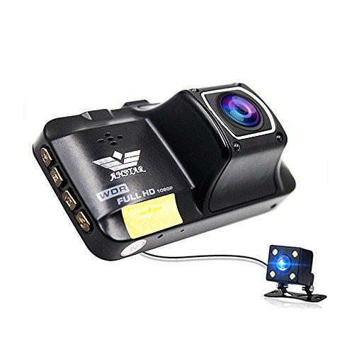 ANSTAR Original CAR DVR HD 1080P Mini Double Lens Reversing Image 3 Inch Wide Angle Car Camera