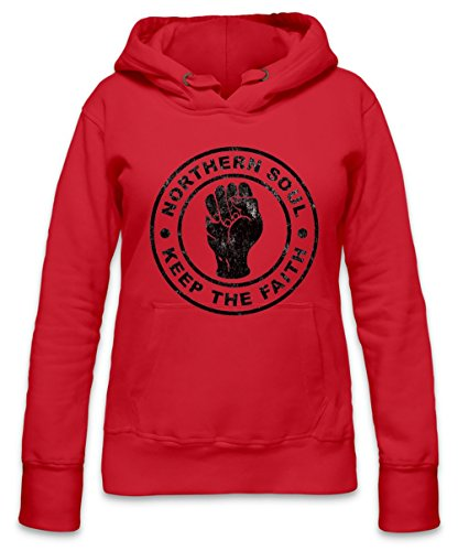 Northern Soul - Keep The Faith Womens Hoodie X-Large
