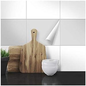 Wandkings Fliesenaufkleber - Wähle eine Farbe & Größe - Hellgrau Seidenmatt - 20 x 25 cm - 20 Stück für Fliesen in Küche, Bad & mehr