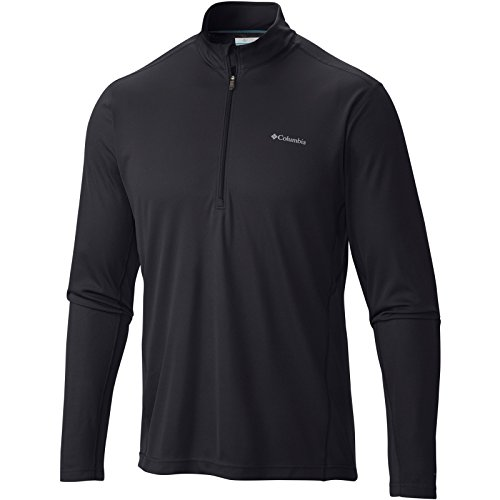 Columbia Baselayer Midweight II Long Sleeve Half Zip Shirt Black